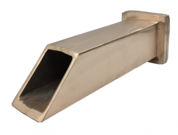 Square Spout 2″ ID Angled Front